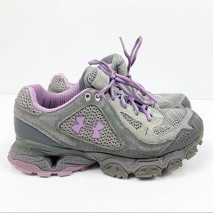 Under Armour Gray Purple Rubber Shoes